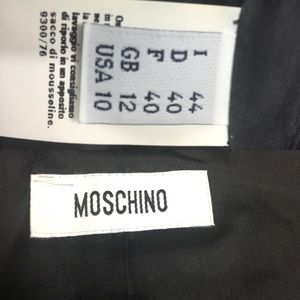 Moschino Dresses - Moschino black textured crystal cocktail dress 10